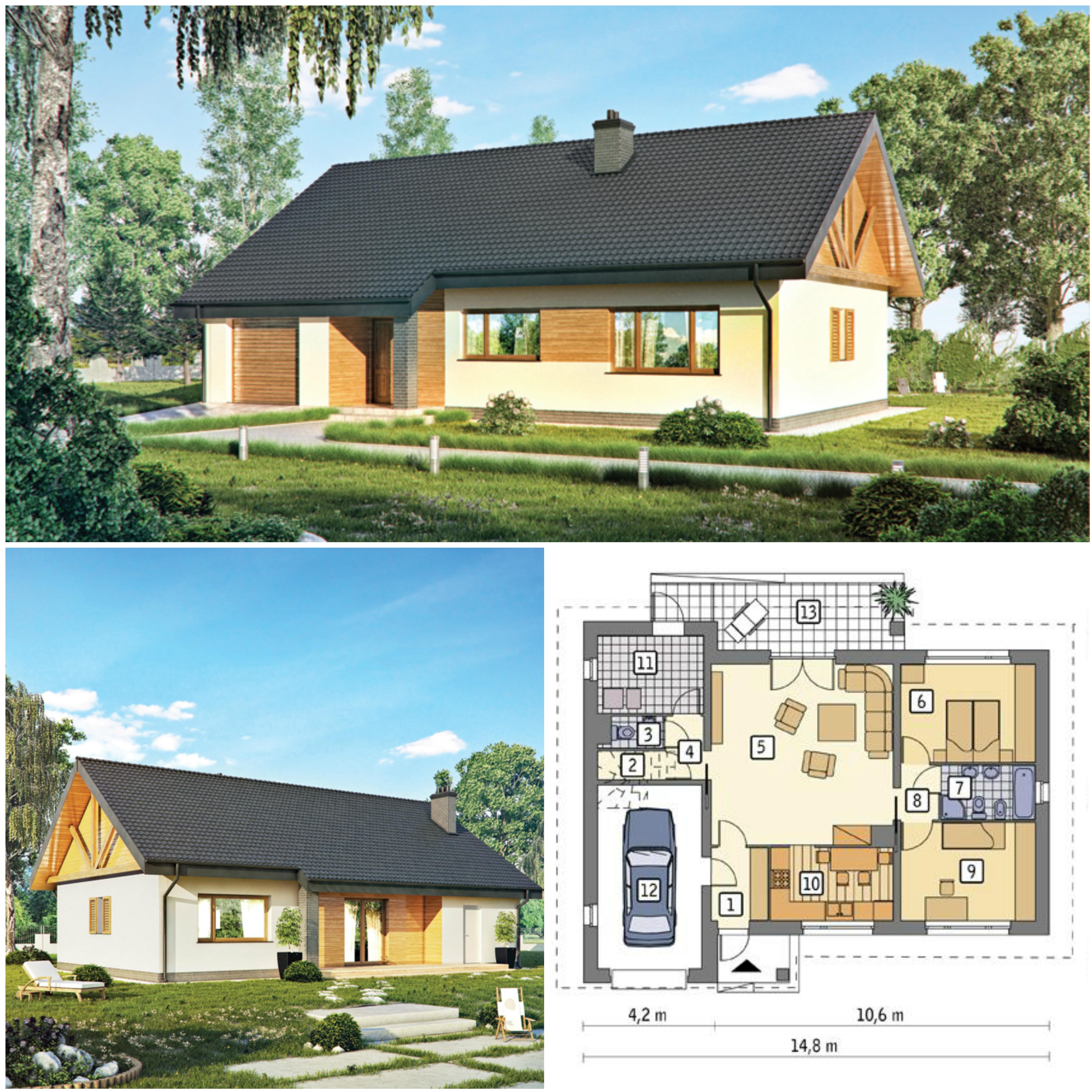 Projekt domu z poddaszem do adaptacji - Idealny