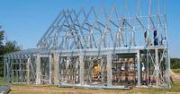 Budowa domu szkieletowego - szkielet stalowy