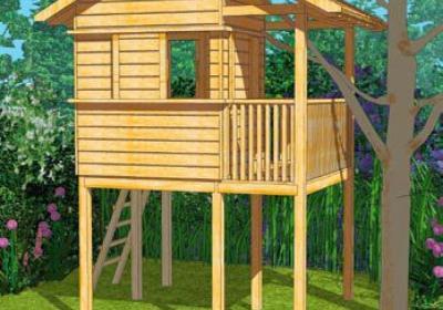 Ogrodowe domki drewniane dla dzieci - projekt domku