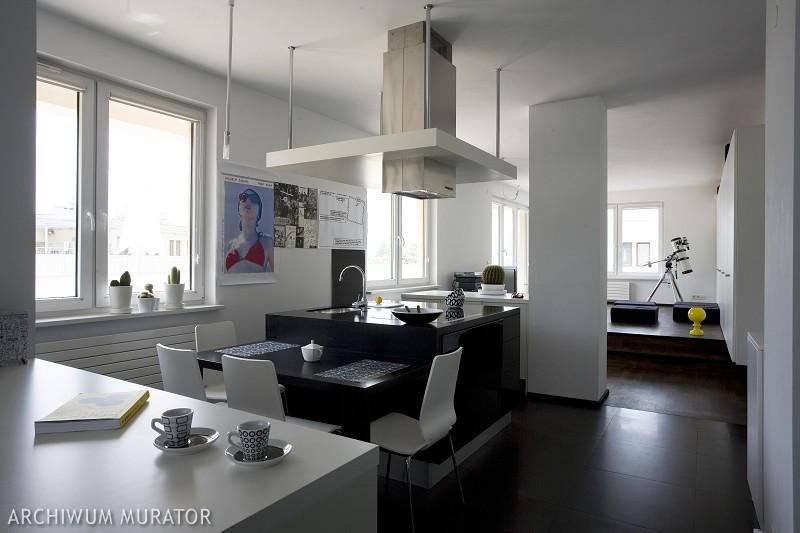 Galeria zdjęć  Czarno biała kuchnia  nowoczesne aranżacje białych kuchni z