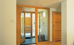 Szerokie drzwi wewnętrzne. Drzwi rozwieralne i przesuwne