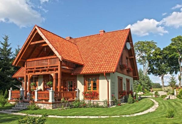Domy murowano-drewniane