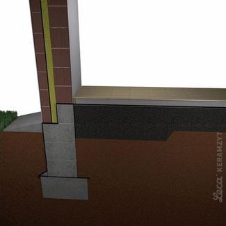 Schemat izolacji podłogi luźnym keramzytem