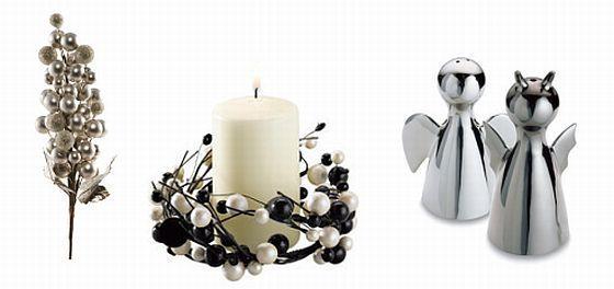 Ozdoby świąteczne - srebrne i białe