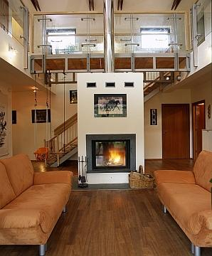Wykończenie komina wewnątrz domu